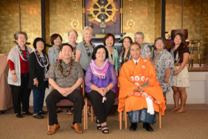 HFBWA Officers seated with Bishop Eric Matsumoto